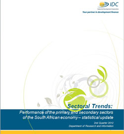 Sectoral Trends Q2-2012- Statistical Update Front Cover