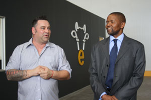 eThekwini Cheese MD Simon Dixon and IDC CEO Mvuleni Geoffrey Qhena