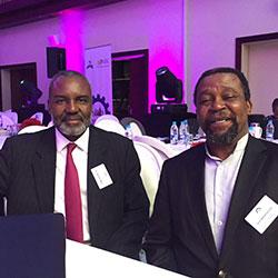 Dr Nkosana Moyo (left) and Joel Netshitenzhe (right)