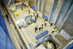 Inside the power house of the Kakamas Hydro Electric Power plant