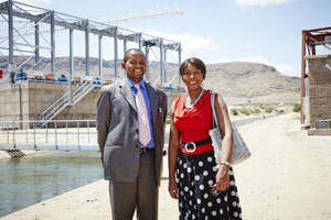 IDC chief executive Geoffrey Qhena at the launch of the Kakamas Hydro Electric Power plant
