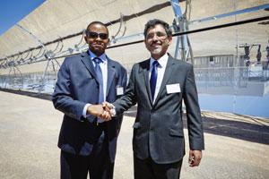 IDC CEO Geoffrey Qhena and Economic Development Minister Ebrahim Patel