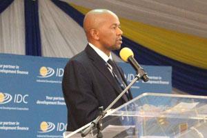 IDC CEO Mr Mvuleni Geoffrey Qhena