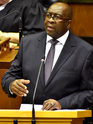 Finance minister Nhlanhla Nene delivers the 2015 Budget Speech (Photo: Department of Communications)