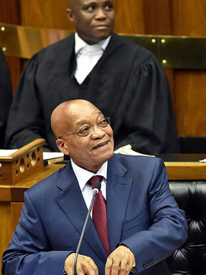 President Jacob Zuma delivers his 2015 State of the Nation address (Photo: Department of Communications)