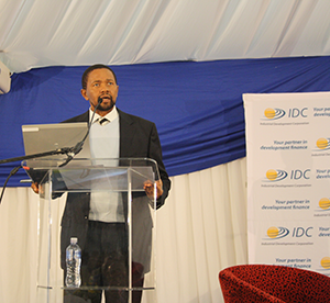 'Through these roadshows, we want to ensure that we do more' - IDC Chief Executive Officer Geoffrey Qhena. (Photo: Elias Nkabinde)