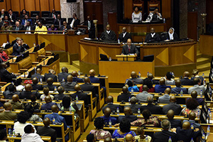 President Jacob Zuma delivers his State of the Nation Address in the joint sitting of the house in Parliament, Cape Town, 11/02/2016 (Photo: GCIS)