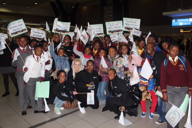 In 2015, girls learners from IDC-adopted school took over at the send-off event at O.R. Tambo International Airport on 13 July.