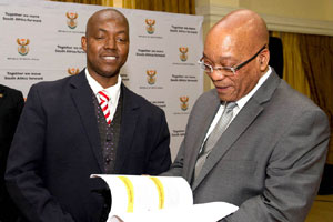 President Jacob Zuma meets with youth representatives